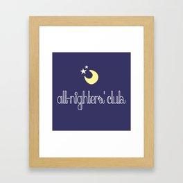 all-nighters' club Framed Art Print