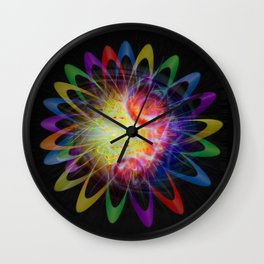 Abstract in Perfection - Magic of the rings 5 Wall Clock