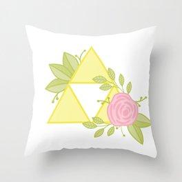 Garden of Power, Wisdom and Courage Throw Pillow