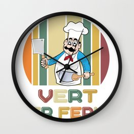 What To The Devil Chef Kitchen Knife Gift Wall Clock