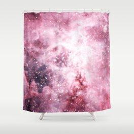 Pink Tarantuala Nebula Core Shower Curtain