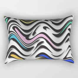 Trippy Waves In Urban Abstract Rectangular Pillow