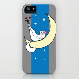 The Cat in the Moonlight is a Slut iPhone Case