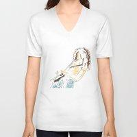 tim burton V-neck T-shirts featuring Tim by Saltz