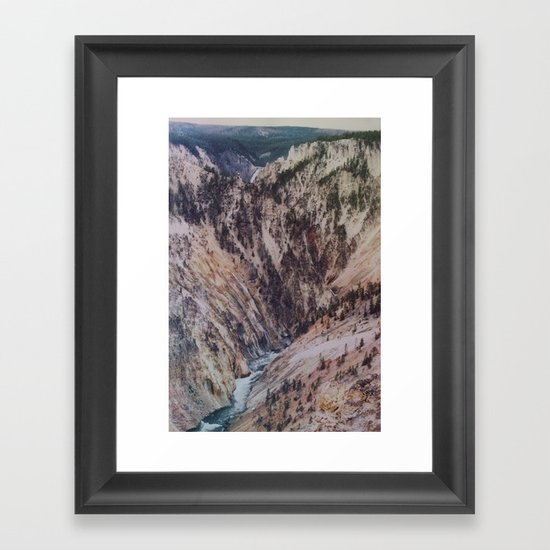 Yellowstone Falls Framed Art Print
