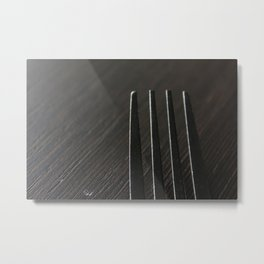 fork 01 ~ macro photography Metal Print