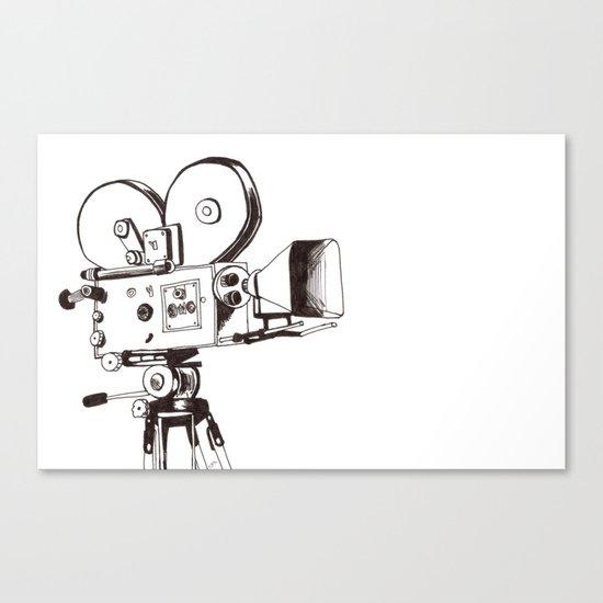 vintage filming Canvas Print