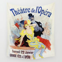 1897 Masquerade ball Paris Opera Wall Tapestry