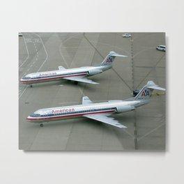 American Airlines Fokker F-100's Metal Print