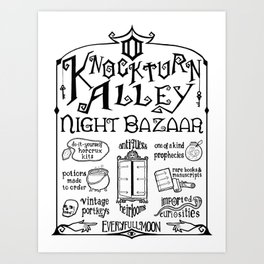 Knockturn Alley Night Bazaar Art Print
