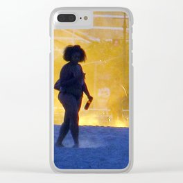 """Coney Island at Dusk"" Clear iPhone Case"