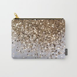 Sparkling Champagne Gold Glitter Glam #1 #shiny #decor #art #society6 Carry-All Pouch