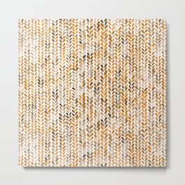 Knitting texture jersey wool braids Metal Print