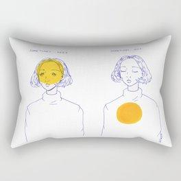 Sometimes Here, Sometimes Not Rectangular Pillow