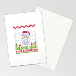 Most Wanted Beard Man This Christmas Stationery Cards