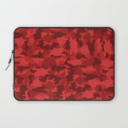 Red Background Camouflage Pattern Laptop Sleeve