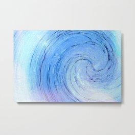 Ice Spiral Metal Print