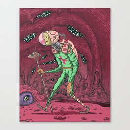 Martian Ghoul Canvas Print