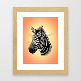 African Zebra Framed Art Print