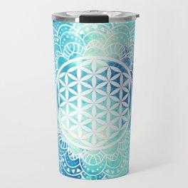 Flower Of Life (Summer Sky) Travel Mug