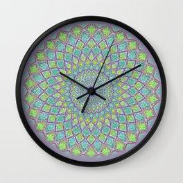 Purple Spirograph Mandala 0118 Wall Clock