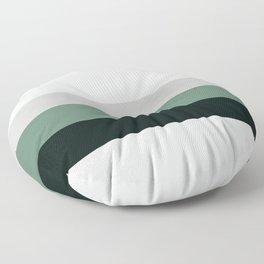aqua || gray horizon Floor Pillow