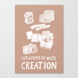 Weapons Of Mass Creation - Photography (white) Canvas Print