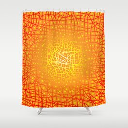 Heat Background Shower Curtain