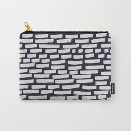 Light Grey Strokes on Dark Blue Carry-All Pouch