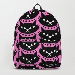 Mid Century Modern Cat Pink Black Backpack