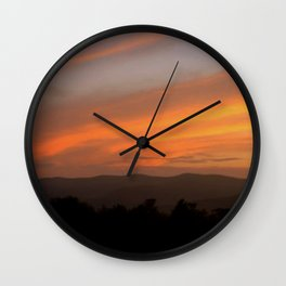Sunset in Vermont Wall Clock