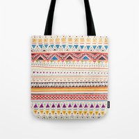 shapes Tote Bags featuring Pattern by Sandra Dieckmann