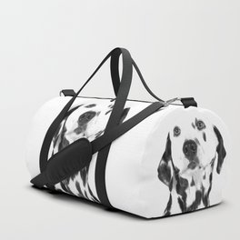 Black and White Dalmatian Duffle Bag