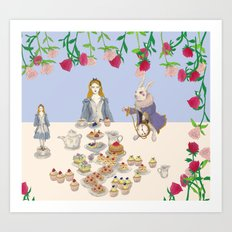 alice in wanderland -afternoontea Art Print