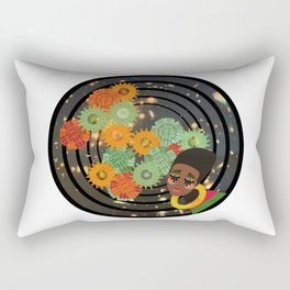 Magic Gold, Girl Through the Cosmos Rectangular Pillow