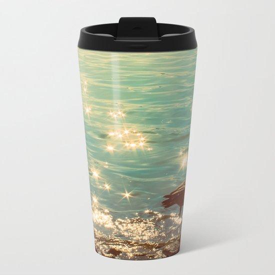 Showering in Sparkling Sunshine Metal Travel Mug