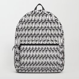 Guitars (Tiny Repeating Pattern on White) Backpack