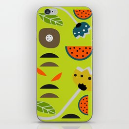 Modern decor with fruits and flowers iPhone Skin