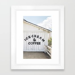 Ice Cream & Coffee Framed Art Print
