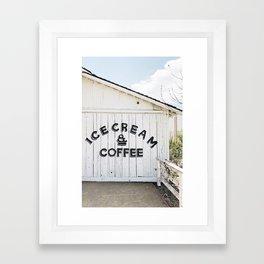Ice Cream & Coffee Framed Art Print