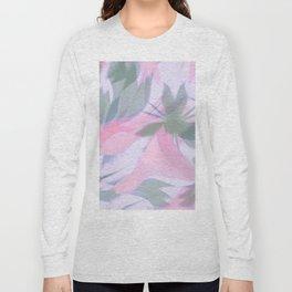 Flowering Vines in Soft Pink Long Sleeve T-shirt