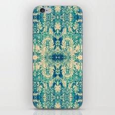 Vintage Blue Turquoise Floral Damask Pattern iPhone & iPod Skin