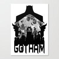 gotham Canvas Prints featuring Gotham by Vitalitee