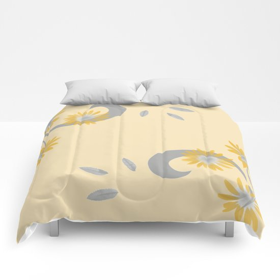 Foral Scroll Design - Orange Comforters