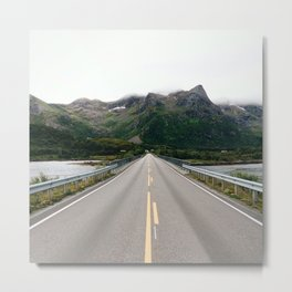 Middle of the road norway Metal Print