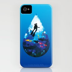 Diver of the Blue iPhone (4, 4s) Slim Case