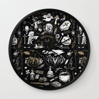 witchcraft Wall Clocks featuring Witchcraft by pakowacz