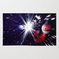 interstellar Area & Throw Rugs featuring Interstellar worlds. by capricorn