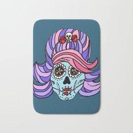 Rockabilly Sugar Skull Bath Mat