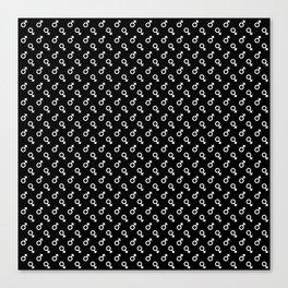 Mars Noir Pattern Canvas Print